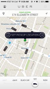 uber carsharing app