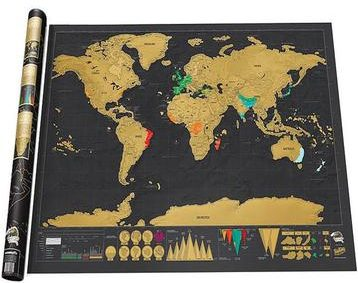 Travel Scratch-off World Wall Map