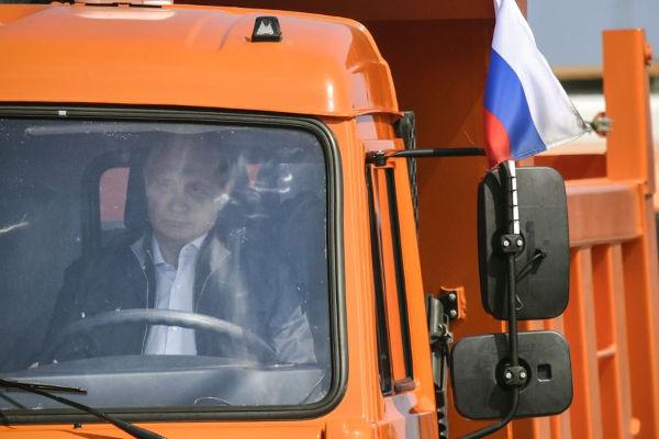 Vladimir Putin Driving Truck