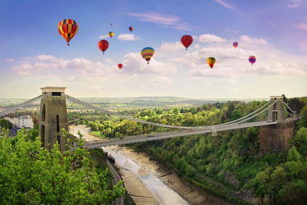 Clifton Suspension bridge and baloon festival